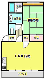 第一澤田マンション[4階]の間取り
