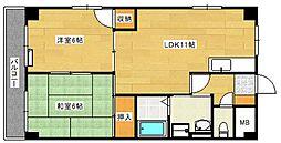 ピースマンションMI[104号室]の間取り