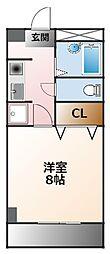 エスタシオン甲子園口[2階]の間取り