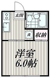 東京都杉並区荻窪4丁目の賃貸アパートの間取り