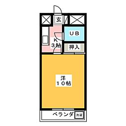 山清ビル[4階]の間取り