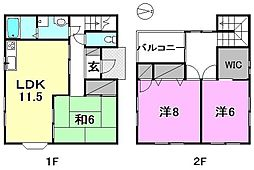 [一戸建] 愛媛県松山市居相3丁目 の賃貸【愛媛県 / 松山市】の間取り