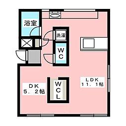 ARTE新清洲[1階]の間取り