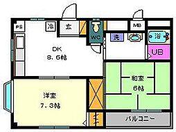 ユーコーポ[2階]の間取り