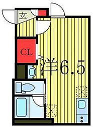 JR山手線 池袋駅 徒歩19分の賃貸アパート 2階ワンルームの間取り