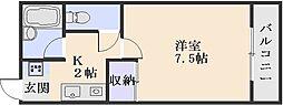 ヴィラシティー祇園[107号室]の間取り