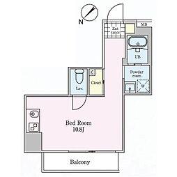 マザーズ月島 4階ワンルームの間取り