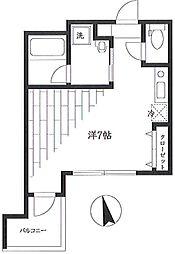 エクセル新川崎II[4階]の間取り