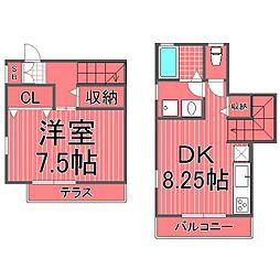 [テラスハウス] 神奈川県横浜市港北区菊名3丁目 の賃貸【/】の間取り