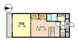 フォレストビュー[3階]の間取り