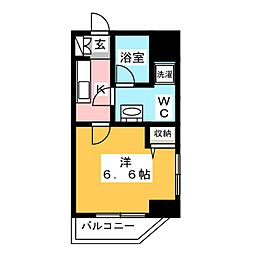 AZEST立石R 8階1Kの間取り