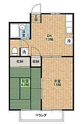 ソシアルマンションエノモト[3階]の間取り