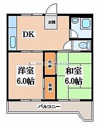 マンション芝園[3階]の間取り