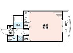 シャトレ豊津II[4階]の間取り