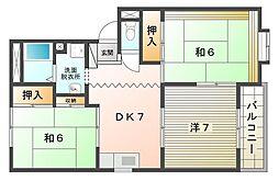 ファミール東高柳[2階]の間取り