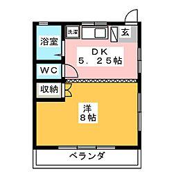 西崎コーポ[2階]の間取り