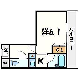 アベニュー曙[5階]の間取り