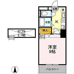 ロイヤルキャビン井坂[2階]の間取り