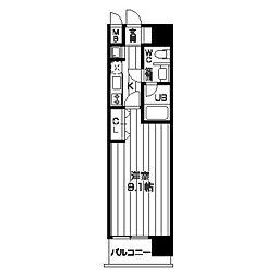 レジディア京町堀[15階]の間取り