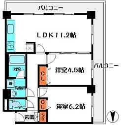 トーデンビル[4階]の間取り