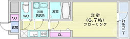 仙台市営南北線 勾当台公園駅 徒歩10分の賃貸マンション 8階1Kの間取り