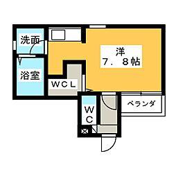 愛知県名古屋市北区志賀町2の賃貸アパートの間取り