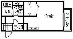 コゥジィーコート1[2階]の間取り