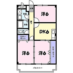 ディアコート横山[1階]の間取り