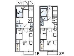 新逆井[2階]の間取り