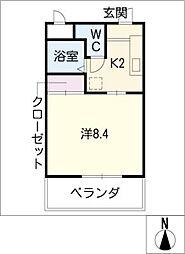 ライフ21[5階]の間取り