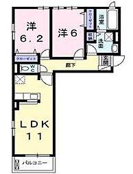 コオリナ・セリーヌ・九番館[2階]の間取り