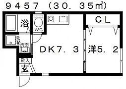 Station Side TakawashiII(ステーションサイド高鷲[102号室号室]の間取り