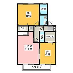 パストラルK−1[2階]の間取り