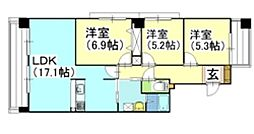LAB La CORE 新屋敷[601号室号室]の間取り