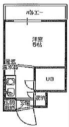 セントラル九条[2階]の間取り
