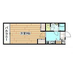 福岡県北九州市小倉北区都1丁目の賃貸マンションの間取り