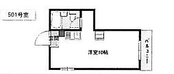 サンコート21(五箇荘小学校区)[5階]の間取り