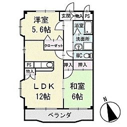 アメニティ大樹寺 壱号館 2階[203号室]の間取り