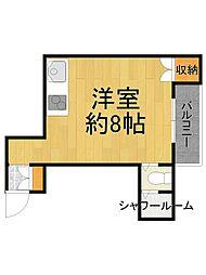 キューブ武庫川1[1階]の間取り