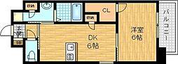 ForestGrace滝井駅前 2階1DKの間取り