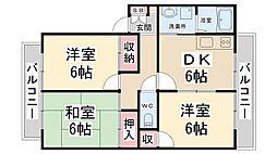 リーブラ東多田II[202号室]の間取り