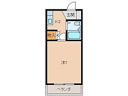 ジョイフル川合[2階]の間取り