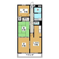 ソレーユ南仙台[1階]の間取り