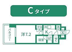 仙台市営南北線 北四番丁駅 徒歩11分の賃貸マンション 6階1Kの間取り