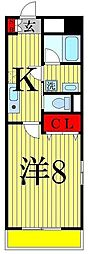 コルソ五反野[8階]の間取り