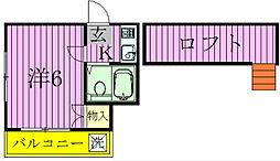 ミナミエステート[2階]の間取り