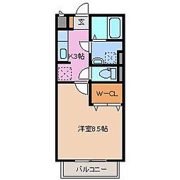 三重県鈴鹿市石垣2丁目の賃貸アパートの間取り