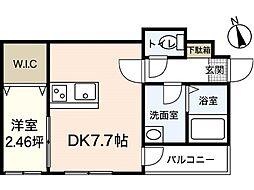 セブンプロート坪井 B棟[3階]の間取り