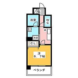 LiveCasa仙台長町[8階]の間取り