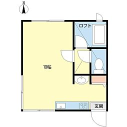 新潟県新潟市中央区東堀通3番町の賃貸アパートの間取り